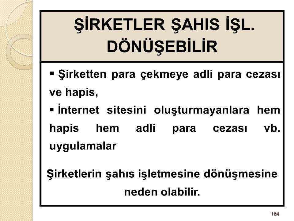184184 ŞİRKETLER ŞAHIS İŞL.