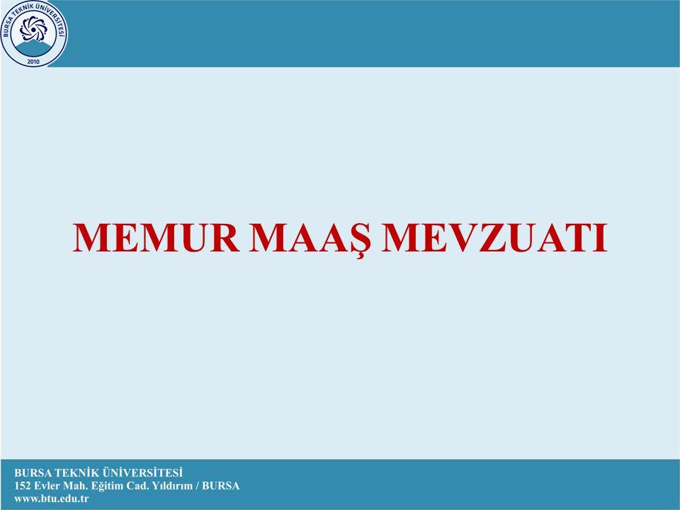 MEMUR MAAŞ MEVZUATI