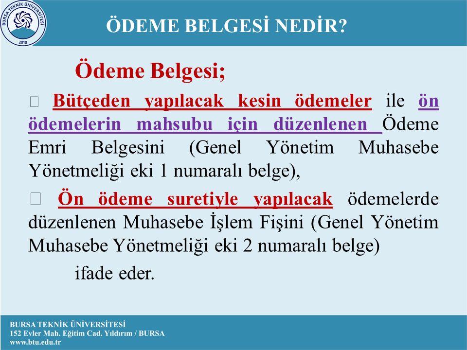 ÖDEME BELGESİ NEDİR.