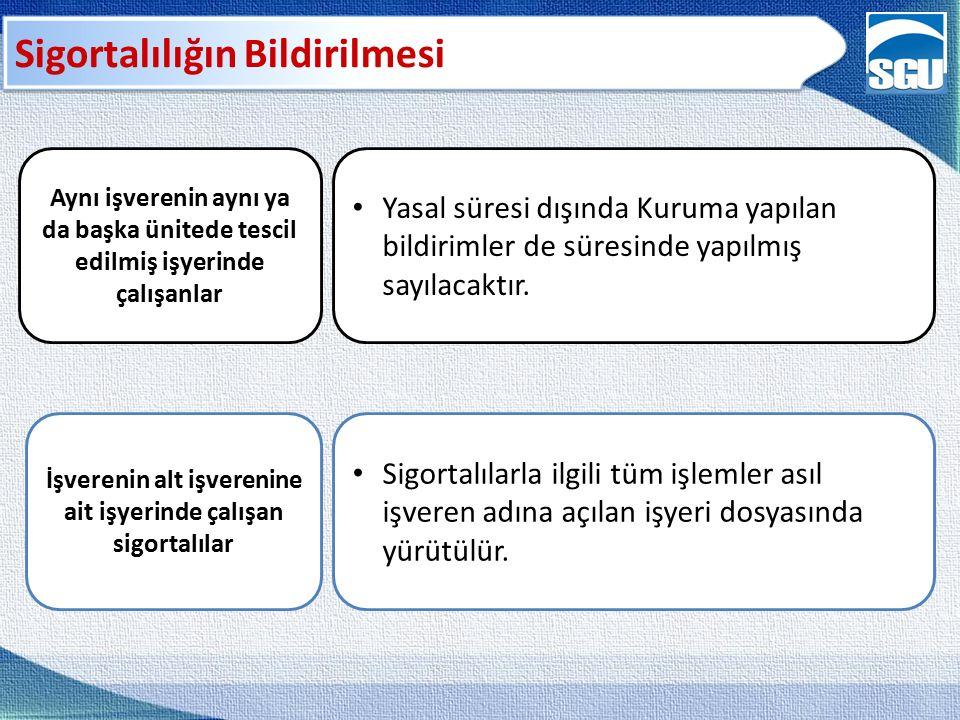 Prim Oranları – SPEK Yurt dışındaki Türk işçiler % 20 MYÖ Kural olarak % 20 MYÖ 5510 - SPEK AÜ – 6,5 X AÜ arasında beyan % 12 GSS % 32 Kısmi süreli çalışanlar % 32 % 3 İşsizlik Sigortası İstemeleri halinde