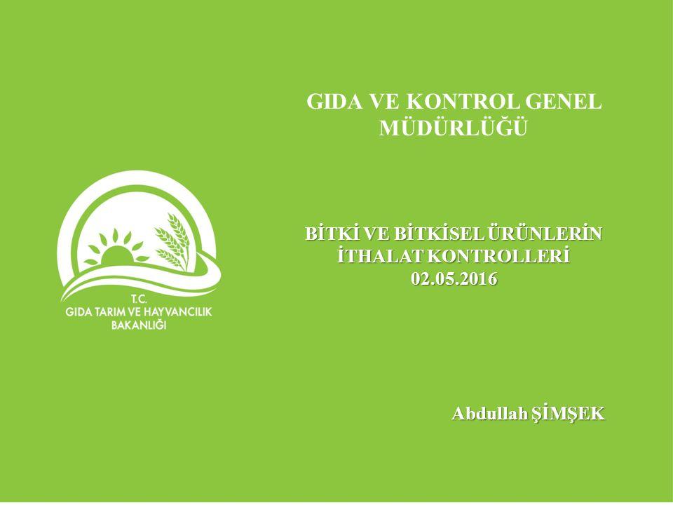Fasıl 12; Veterinerlik, Gıda Güvenilirliği ve Bitki Sağlığı Kapanış Kriterlerinden 6 no'lu kapanış kriterinin karşılanması Bitki sağlığı sınır kontrol noktalarının AB kriterlerine uygun olarak teçhiz edilmesi.