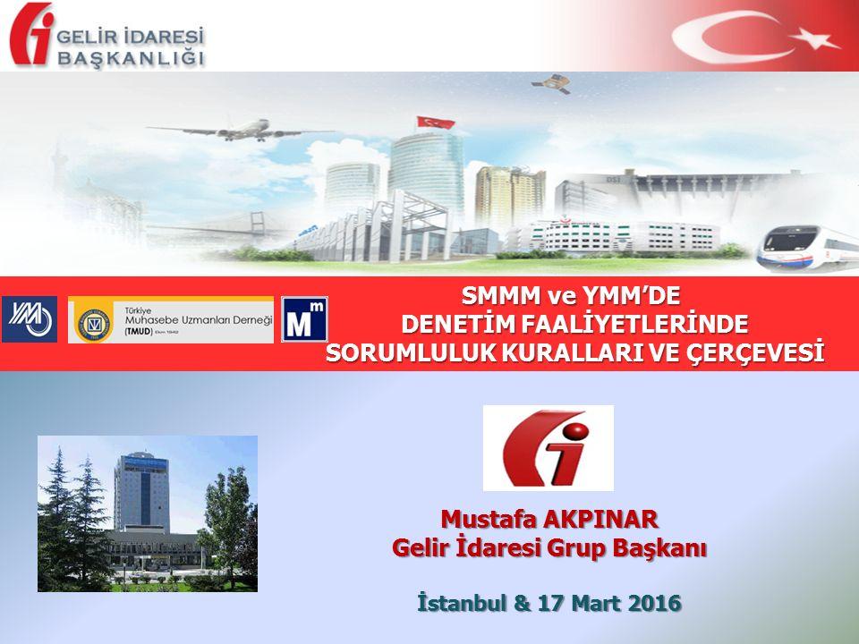 İstanbul & 17 Mart 2016 SMMM ve YMM'DE SMMM ve YMM'DE DENETİM FAALİYETLERİNDE DENETİM FAALİYETLERİNDE SORUMLULUK KURALLARI VE ÇERÇEVESİ SORUMLULUK KUR