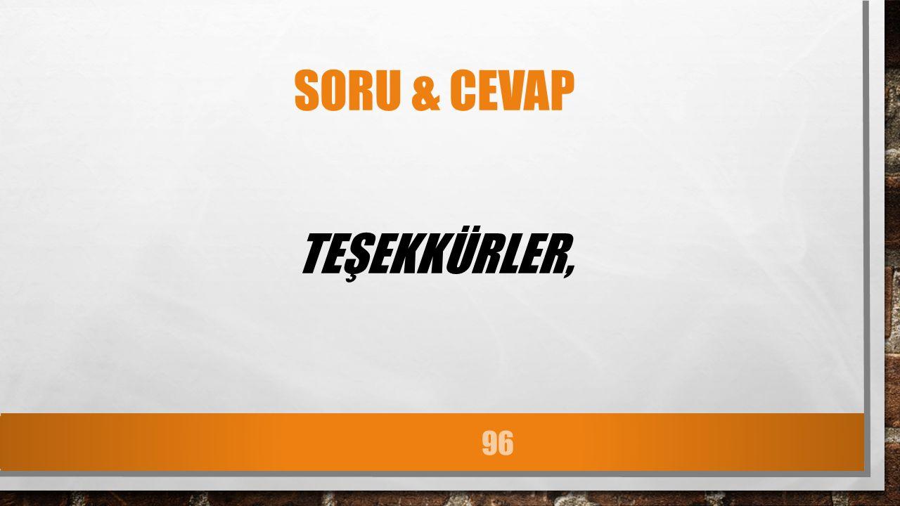 SORU & CEVAP TEŞEKKÜRLER, 96