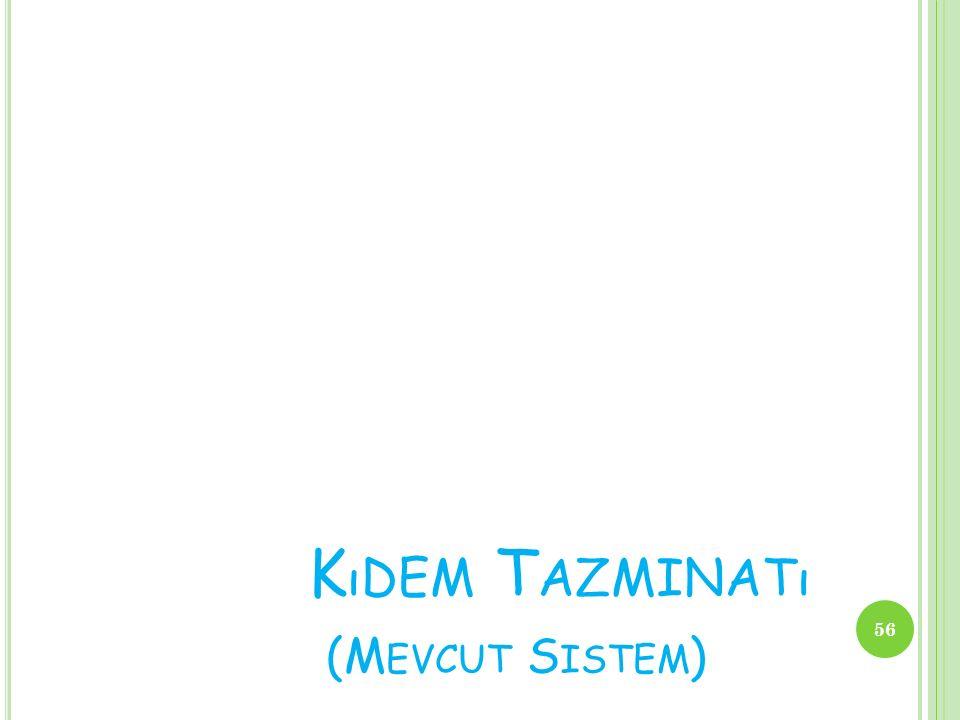 K ıDEM T AZMINATı (M EVCUT S ISTEM ) 56
