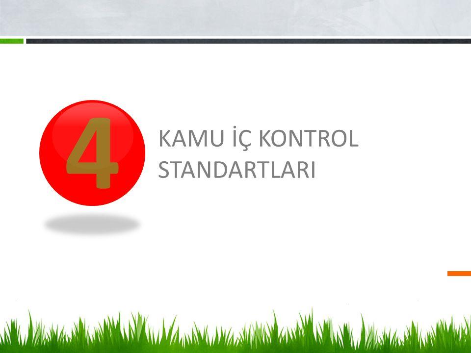 4 KAMU İÇ KONTROL STANDARTLARI