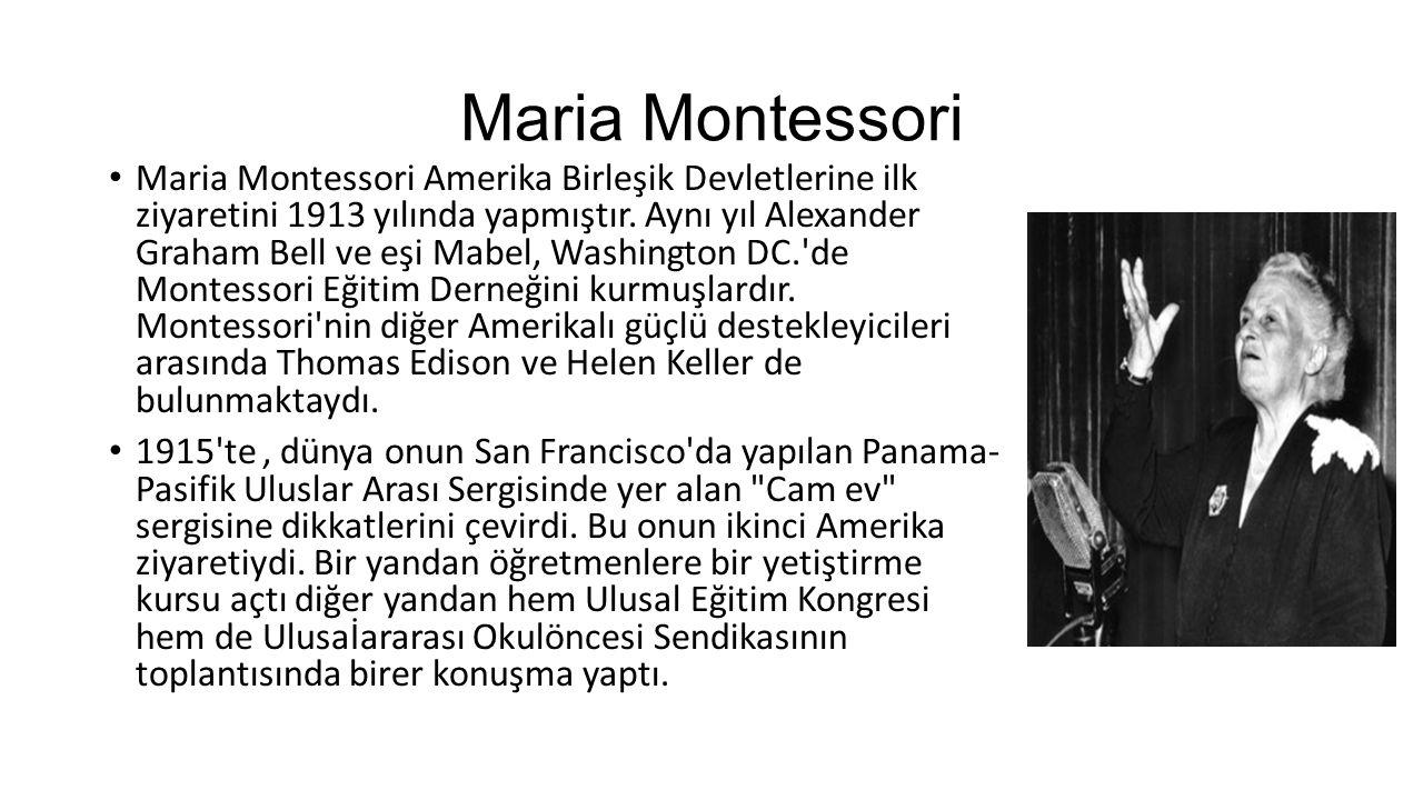 Maria Montessori 1917 yılında İspanyol hükümeti onu bir araştırma enstitüsü açmak üzere davet etti.
