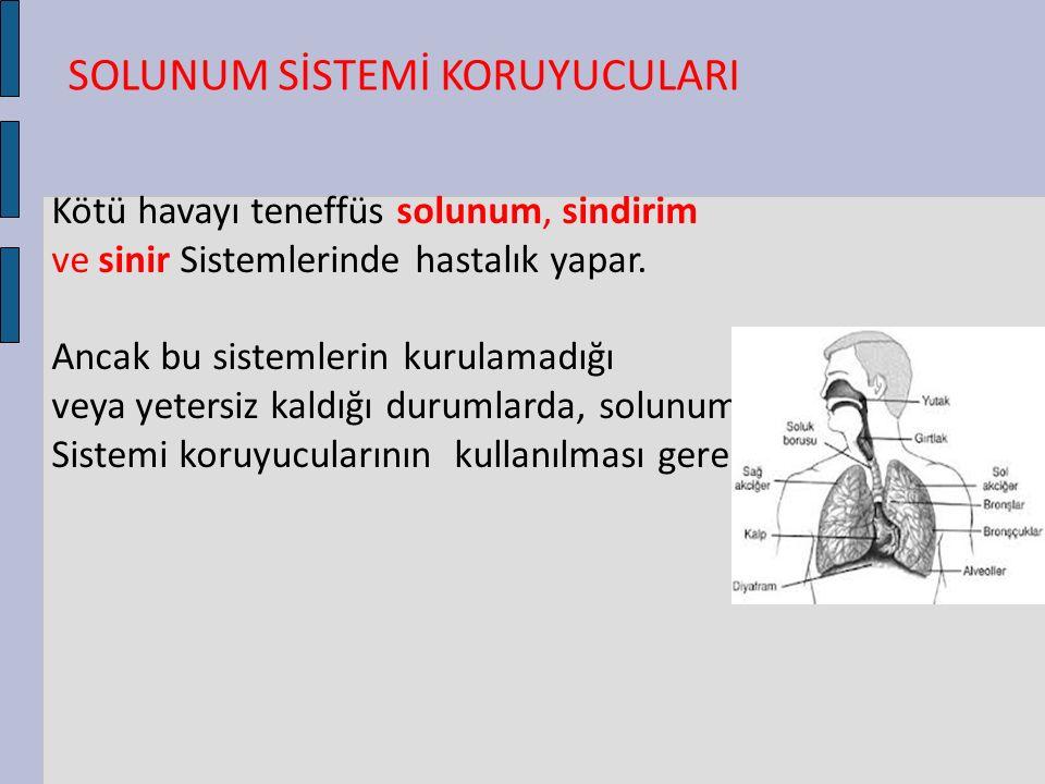Kötü havayı teneffüs solunum, sindirim ve sinir Sistemlerinde hastalık yapar. Ancak bu sistemlerin kurulamadığı veya yetersiz kaldığı durumlarda, solu