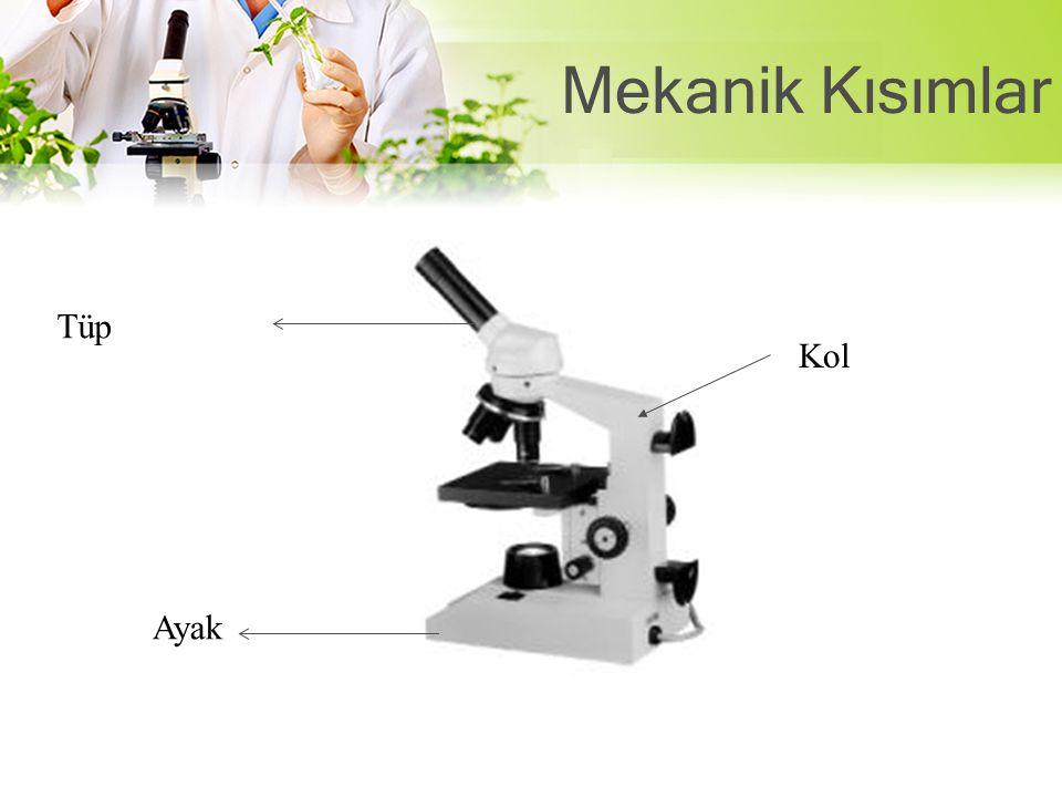 Mikroskobun büyütmesi şu şekilde hesaplanır: MİKROSKOP BÜYÜTMESİ= OKÜLER X OBJEKTİF Örneğin; Oküler 5x, objektif 40x olan bir mikroskobun büyütmesi =5 X 40 = 200X olur.