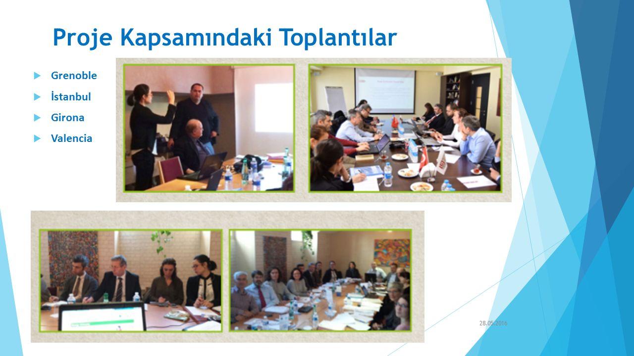 Proje Kapsamındaki Toplantılar  Grenoble  İstanbul  Girona  Valencia 28.05.2016TEPEB- İnşaat Sektöründe Enerji Performans Teknisyeni Avrupa Sertifikası
