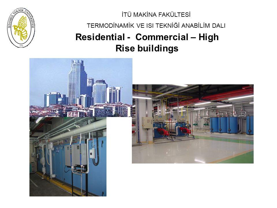 İTÜ MAKİNA FAKÜLTESİ TERMODİNAMİK VE ISI TEKNİĞİ ANABİLİM DALI Residential - Commercial – High Rise buildings