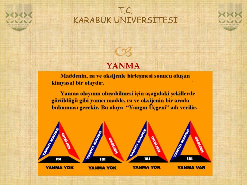  T.C. KARABÜK ÜNİVERSİTESİ YANMA