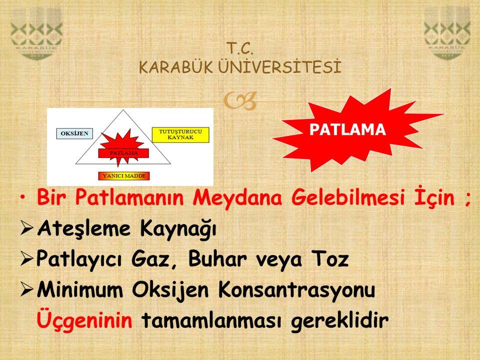  T.C. KARABÜK ÜNİVERSİTESİ PATLAMA