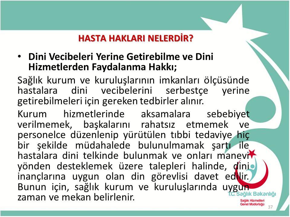 HASTA HAKLARI NELERDİR.