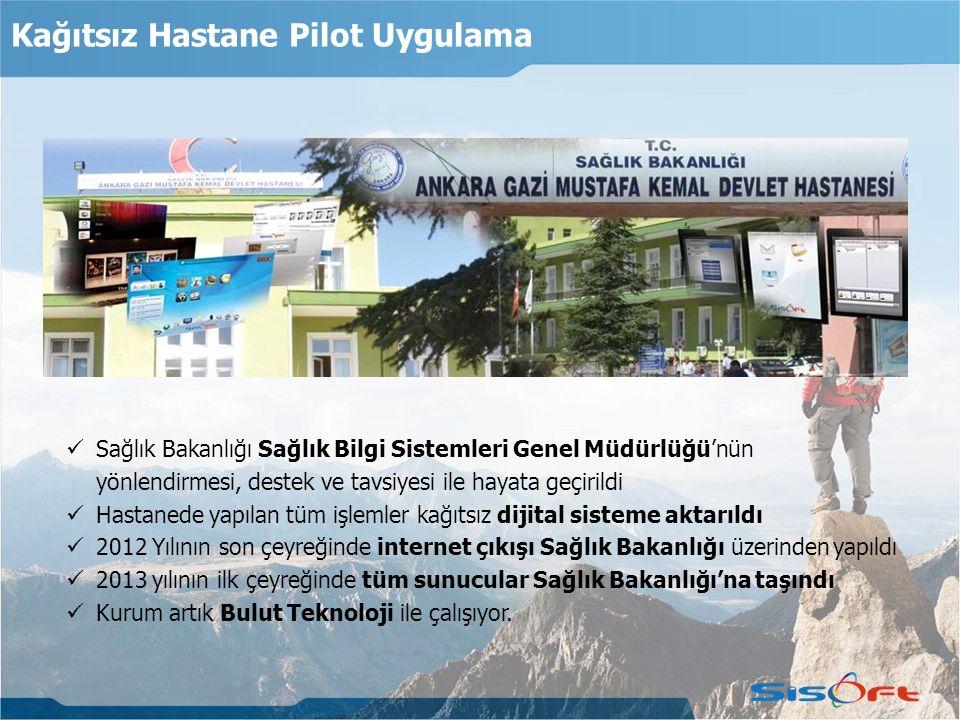 Kağıtsız Hastane Pilot Uygulama Sağlık Bakanlığı Sağlık Bilgi Sistemleri Genel Müdürlüğü'nün yönlendirmesi, destek ve tavsiyesi ile hayata geçirildi H