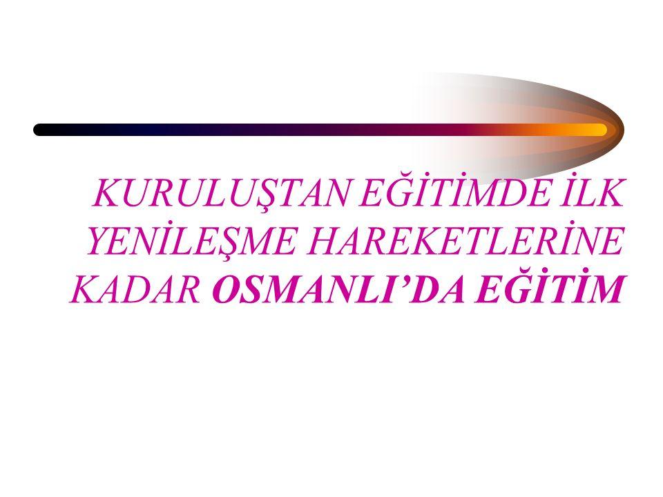 Azınlık Okulları: Fatih İstanbul'u alınca öncelikle Rumlara ve Galata Latinlerine daha sonra ermeni ve Yahudilere haklar tanımıştır.