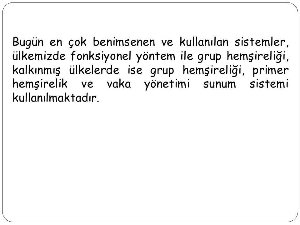 GRUP (TAKIM-EKİP) HEMŞİRELİĞİ YÖNTEMİ Bir grup halinde, demokratik şekilde birlikte çalışma grup hemşireliğinin esasıdır.