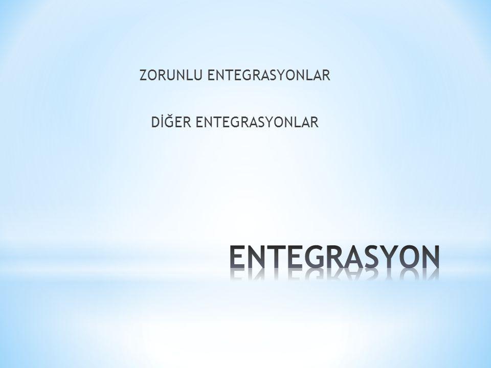 ZORUNLU ENTEGRASYONLAR DİĞER ENTEGRASYONLAR