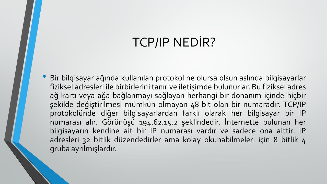 TCP/IP NEDİR.