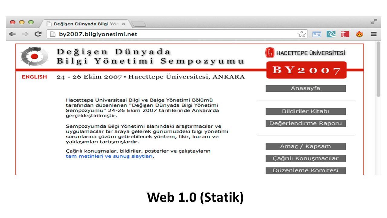 Web 1.0 (Statik)