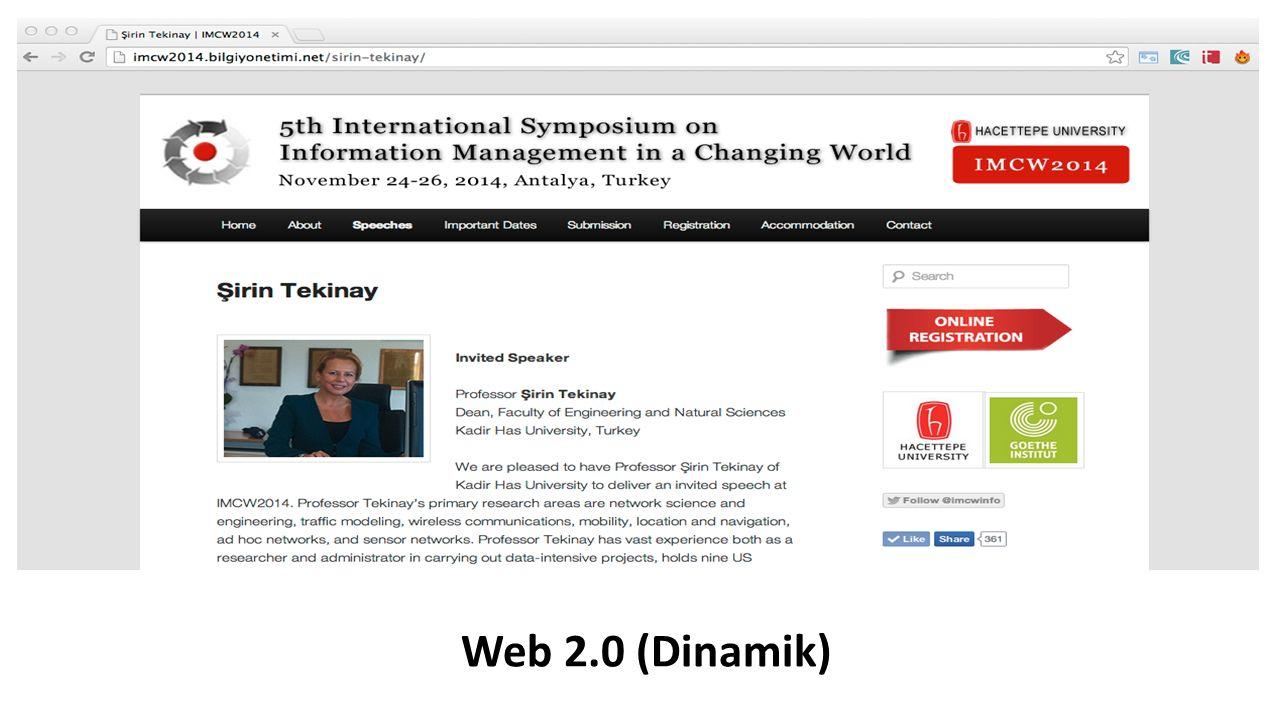 Web 2.0 (Dinamik)
