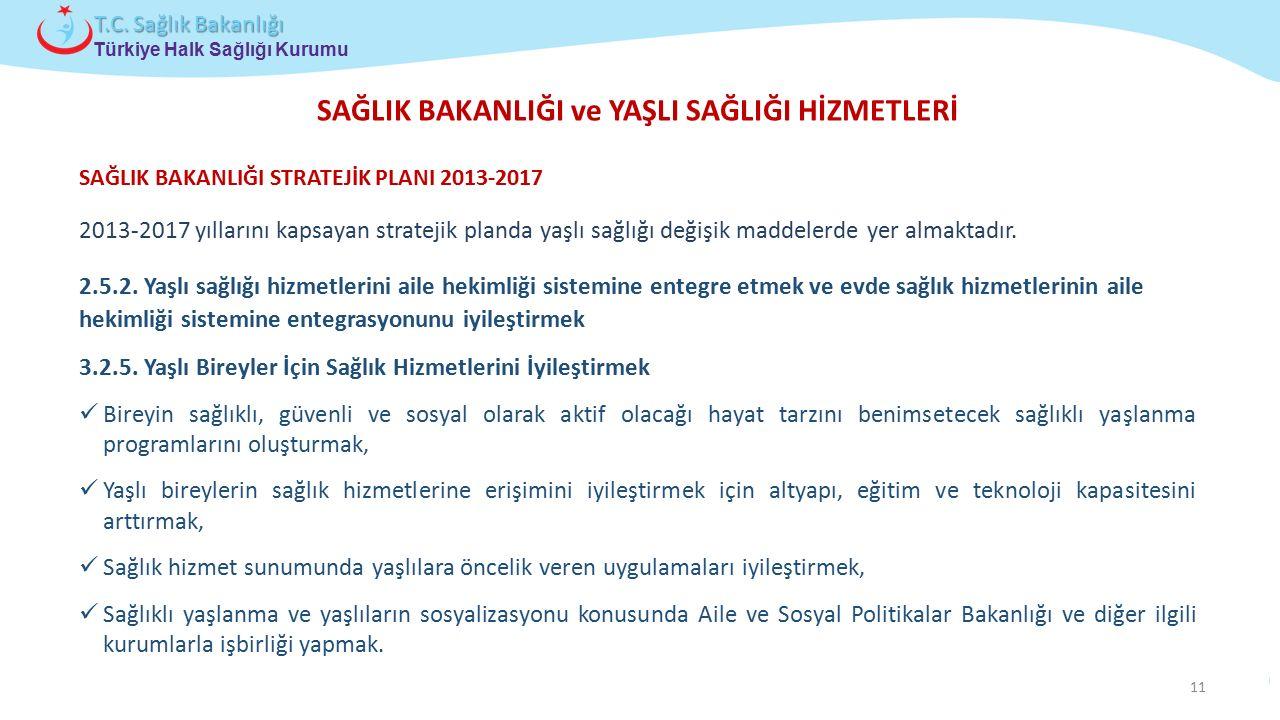 Çocuk ve Ergen Sağlığı Daire Başkanlığı Türkiye Halk Sağlığı Kurumu T.C. Sağlık Bakanlığı SAĞLIK BAKANLIĞI ve YAŞLI SAĞLIĞI HİZMETLERİ 2013-2017 yılla
