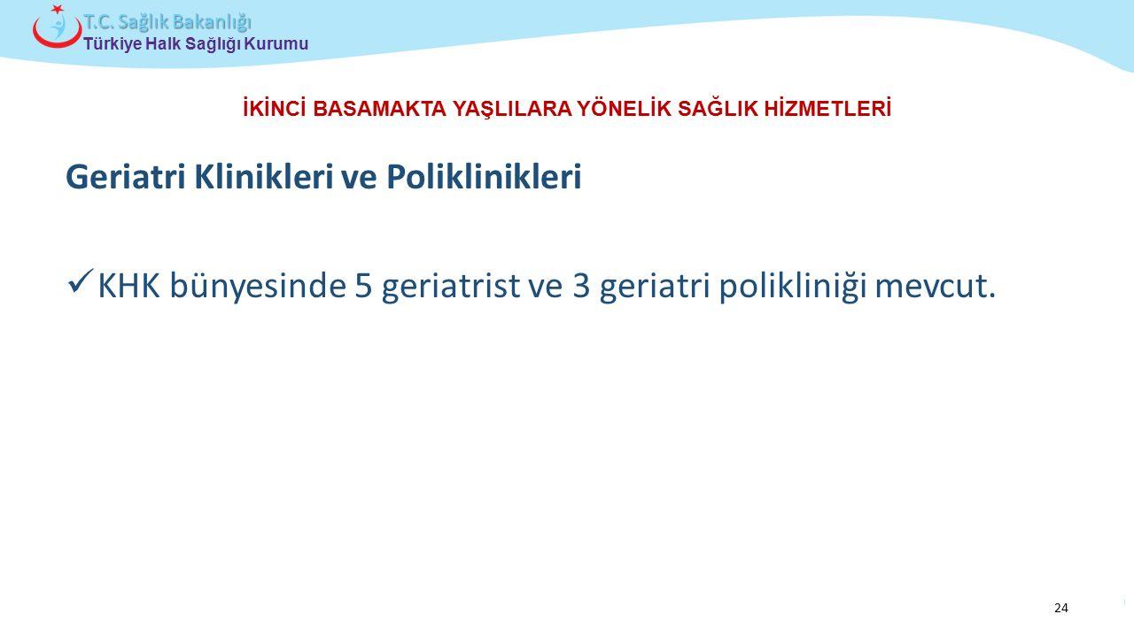 Çocuk ve Ergen Sağlığı Daire Başkanlığı Türkiye Halk Sağlığı Kurumu T.C. Sağlık Bakanlığı İKİNCİ BASAMAKTA YAŞLILARA YÖNELİK SAĞLIK HİZMETLERİ Geriatr
