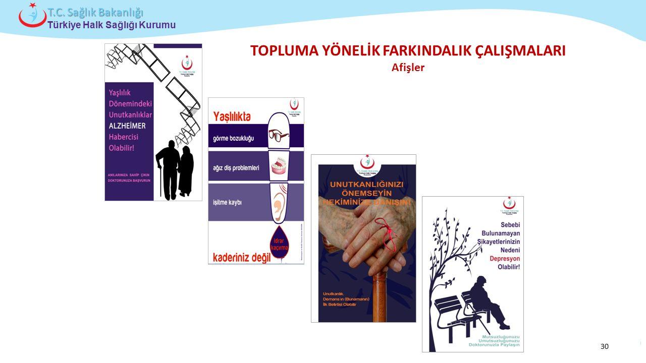 Çocuk ve Ergen Sağlığı Daire Başkanlığı Türkiye Halk Sağlığı Kurumu T.C. Sağlık Bakanlığı TOPLUMA YÖNELİK FARKINDALIK ÇALIŞMALARI Afişler 30