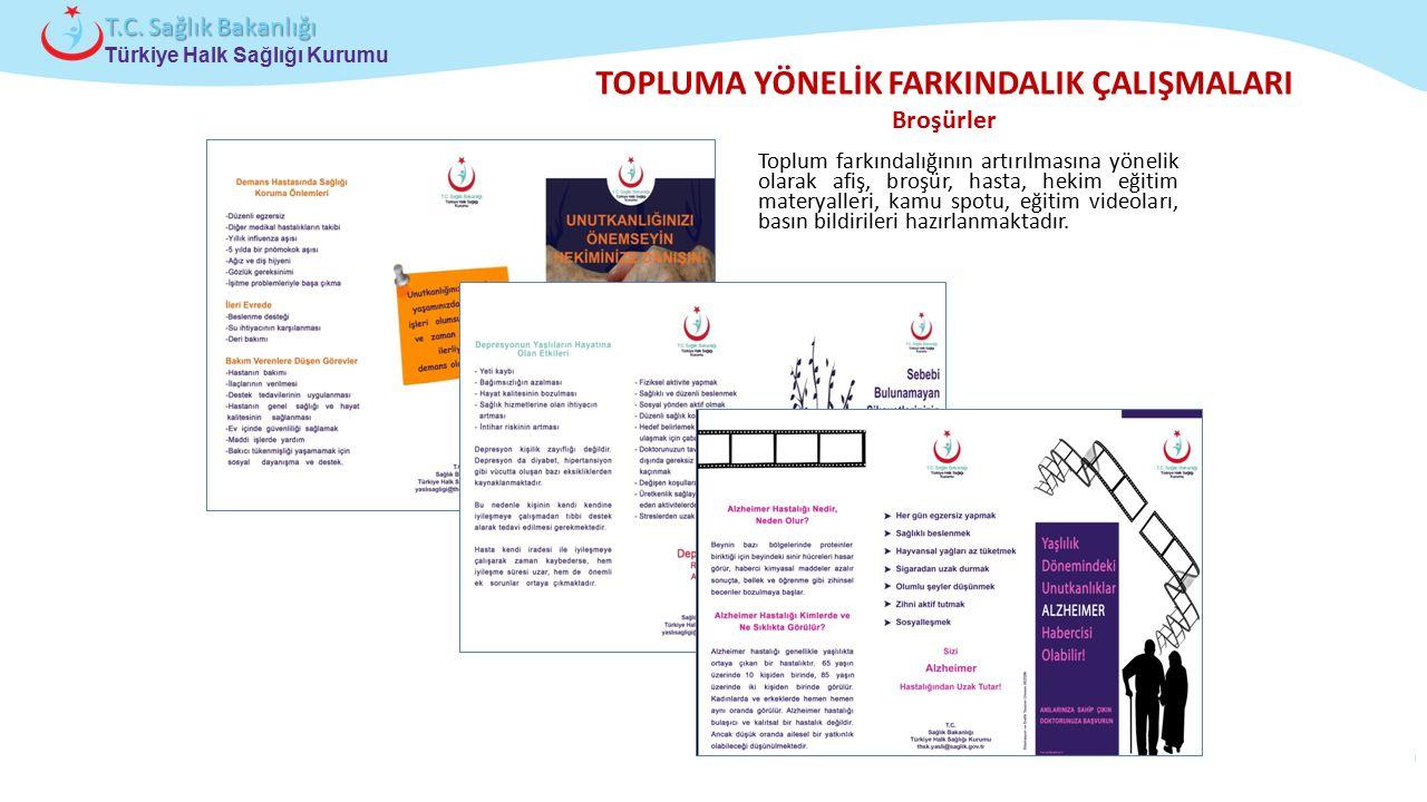 Çocuk ve Ergen Sağlığı Daire Başkanlığı Türkiye Halk Sağlığı Kurumu T.C. Sağlık Bakanlığı TOPLUMA YÖNELİK FARKINDALIK ÇALIŞMALARI Broşürler Toplum far