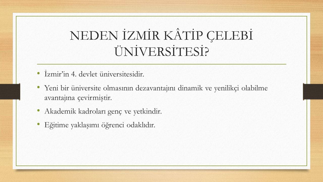 NEDEN İZMİR KÂTİP ÇELEBİ ÜNİVERSİTESİ. İzmir'in 4.