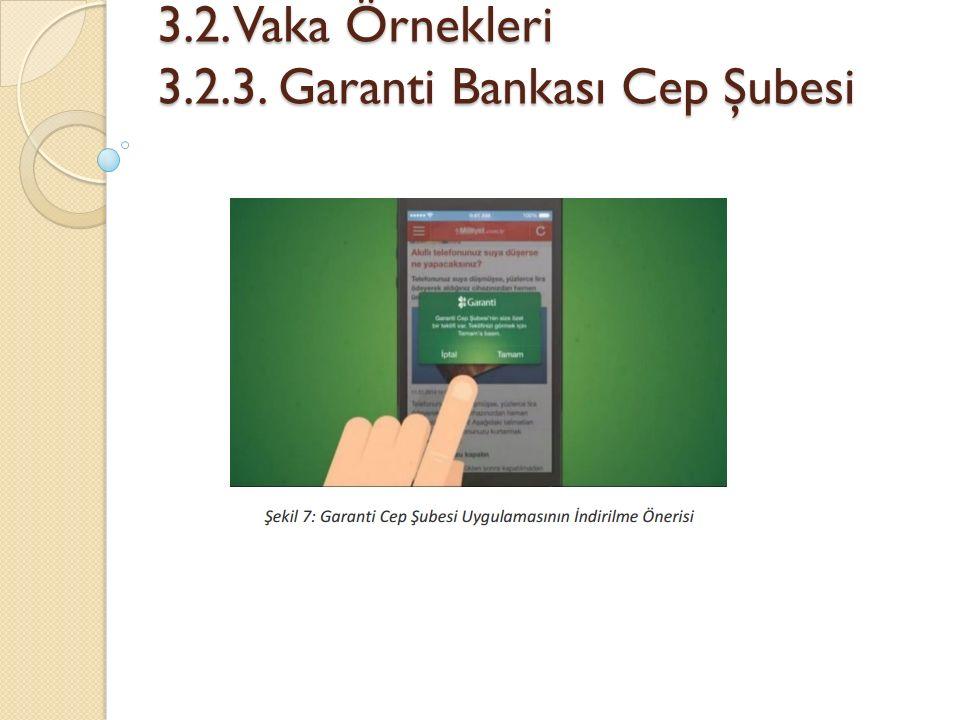 3.2. Vaka Örnekleri 3.2.3. Garanti Bankası Cep Şubesi 3.2. Vaka Örnekleri 3.2.3. Garanti Bankası Cep Şubesi