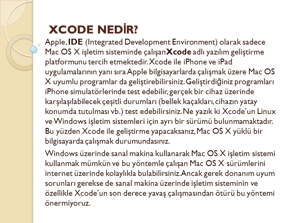 XCODE NED İ R. XCODE NED İ R.