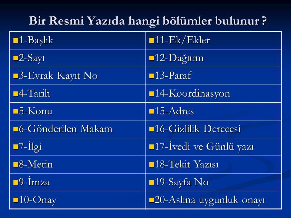 BÜYÜK HARF NERELERDE KULLANILIR-14 .