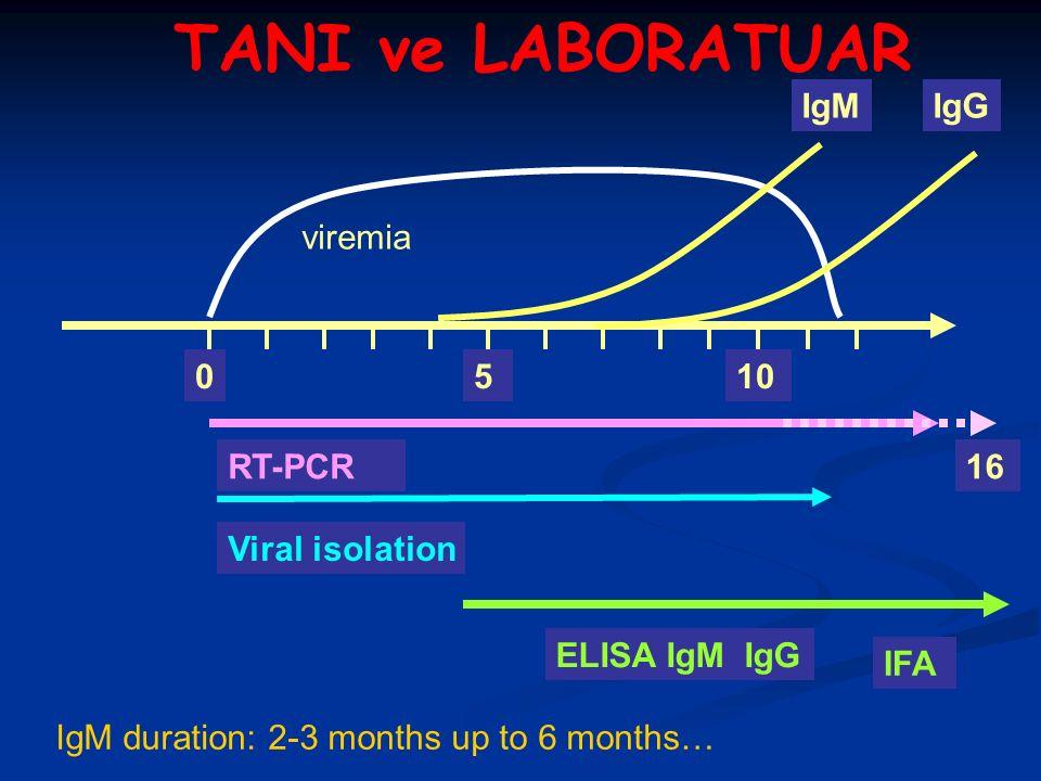  Trombositopeni  Lökopeni  AST, ALT yüksekliği  LDH ve CK yüksekliği  Total protein düşüklüğü  Hiperbilurubinemi  PT, aPTT uzaması TANI ve LABORATUAR