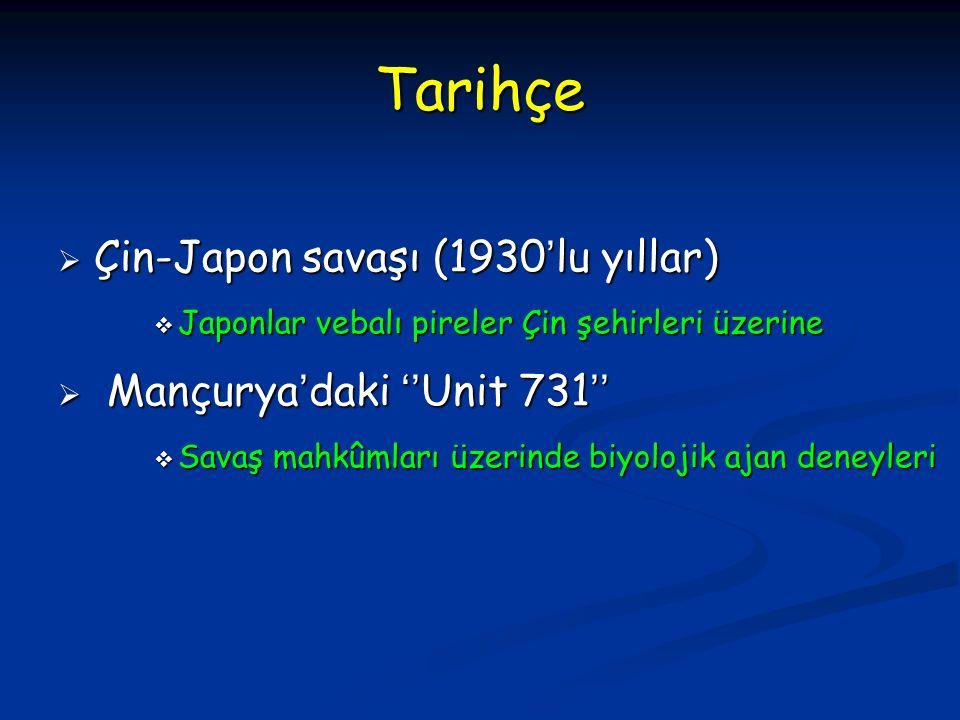 Tarihçe  İlk ve Ortaçağ'da Moğol ve Arap orduları  Vebadan ölen insanlar ve hayvan leşleri - Su  Tatarların 14'üncü yüzyılda (1346–1347)  Vebalı asker cesetlerini şehir surlarının üzerinden