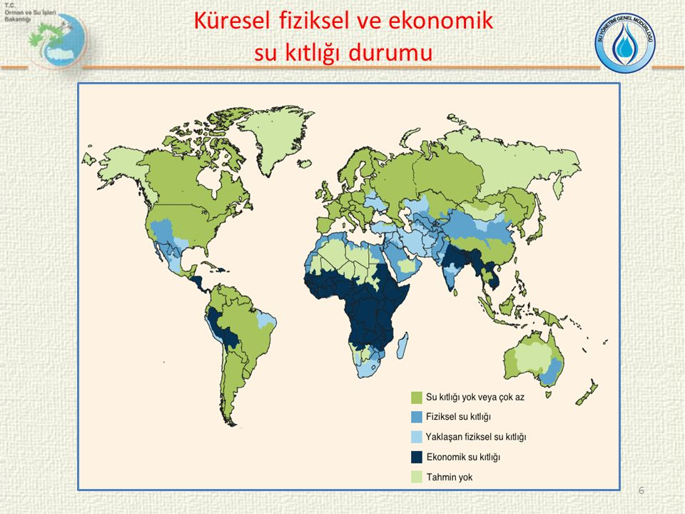 Küresel fiziksel ve ekonomik su kıtlığı durumu 6