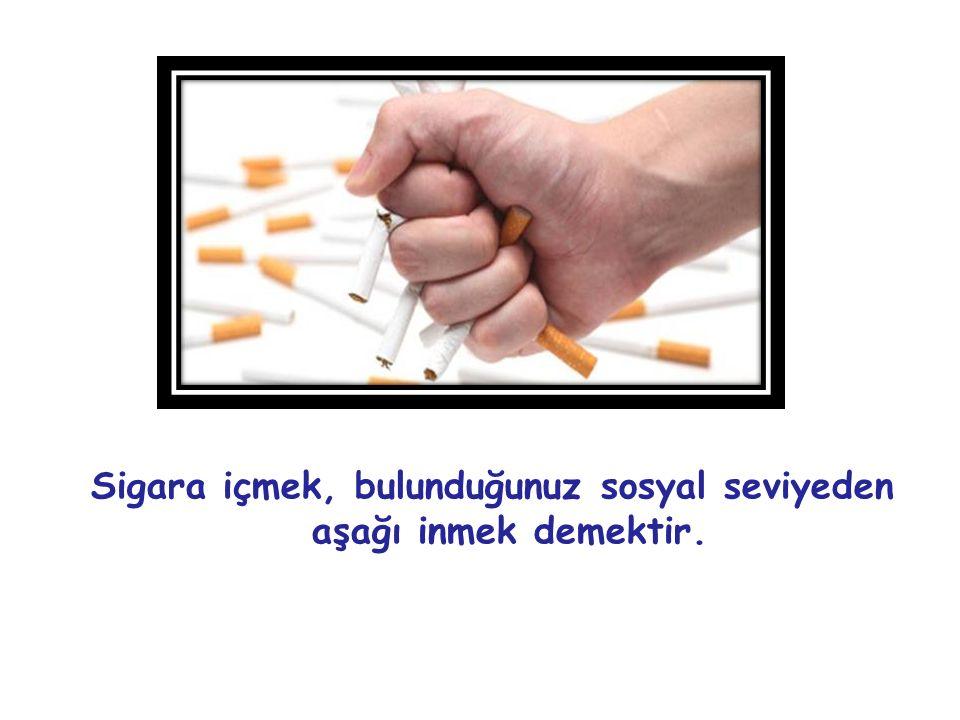 Sigara içmek, bulunduğunuz sosyal seviyeden aşağı inmek demektir.