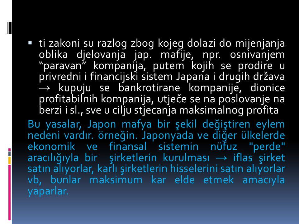  ti zakoni su razlog zbog kojeg dolazi do mijenjanja oblika djelovanja jap.