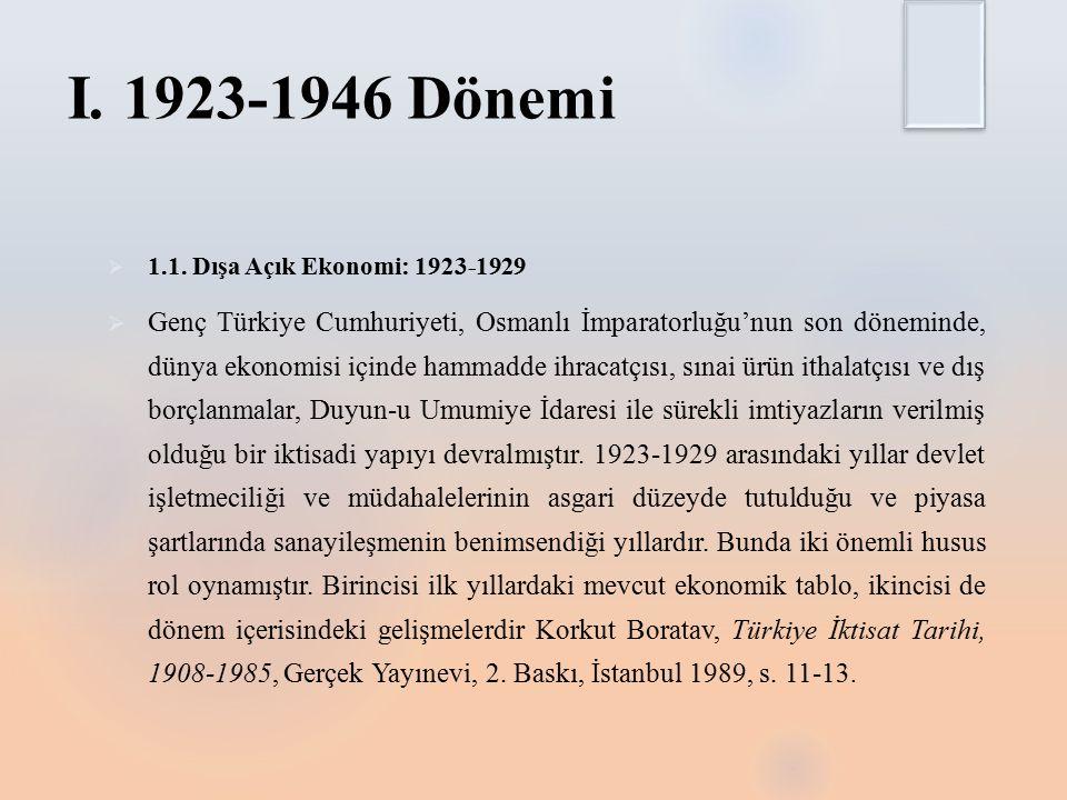 I.1923-1946 Dönemi  1.1.