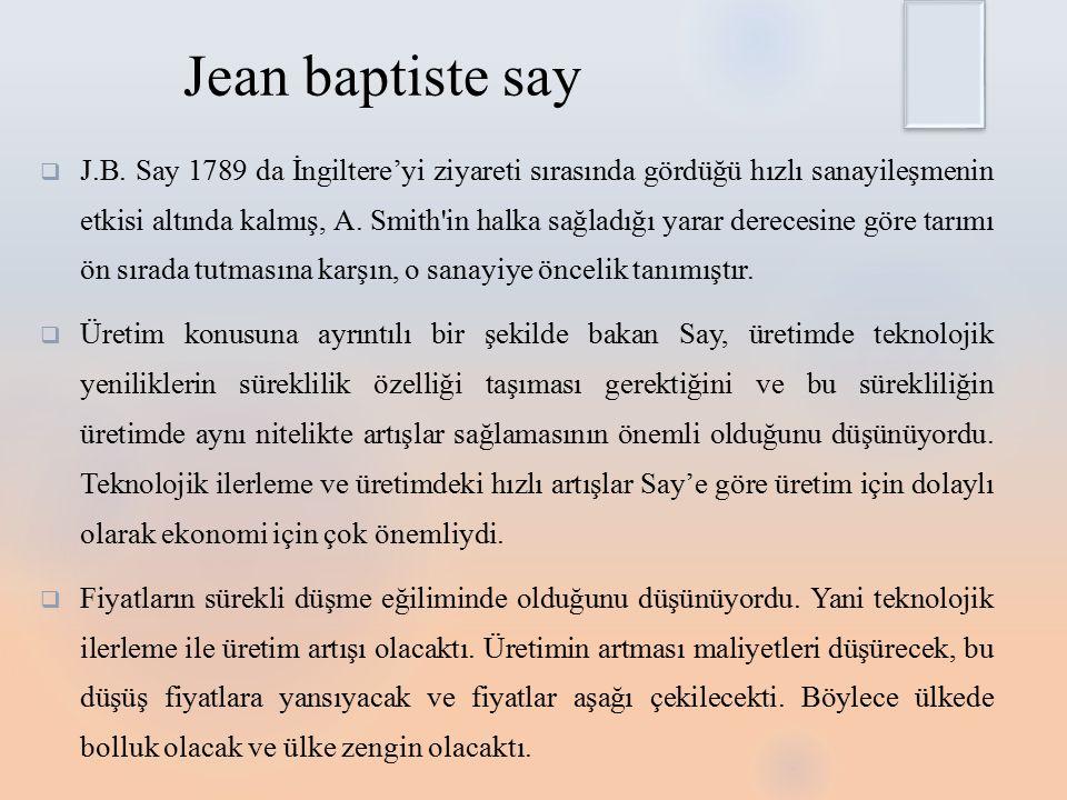 Jean baptiste say  J.B.