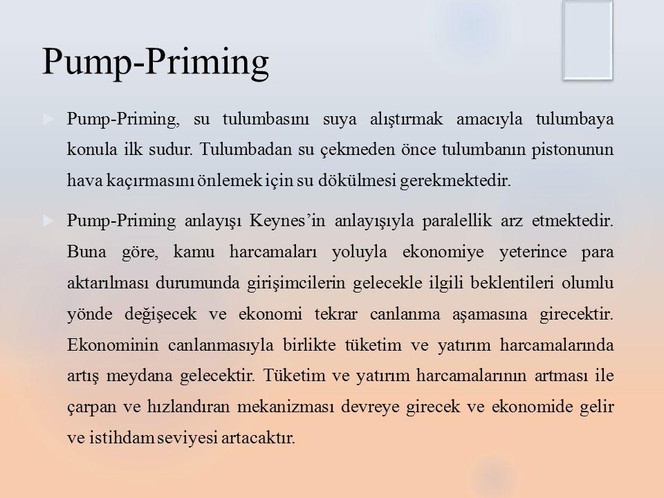 Pump-Priming  Pump-Priming, su tulumbasını suya alıştırmak amacıyla tulumbaya konula ilk sudur.