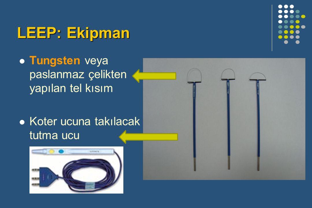 Tungsten veya paslanmaz çelikten yapılan tel kısım Koter ucuna takılacak tutma ucu