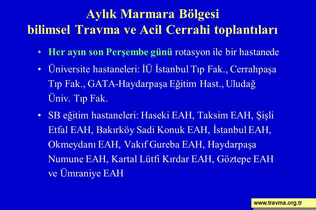 Her ayın son Perşembe günü rotasyon ile bir hastanede Üniversite hastaneleri: İÜ İstanbul Tıp Fak., Cerrahpaşa Tıp Fak., GATA-Haydarpaşa Eğitim Hast.,