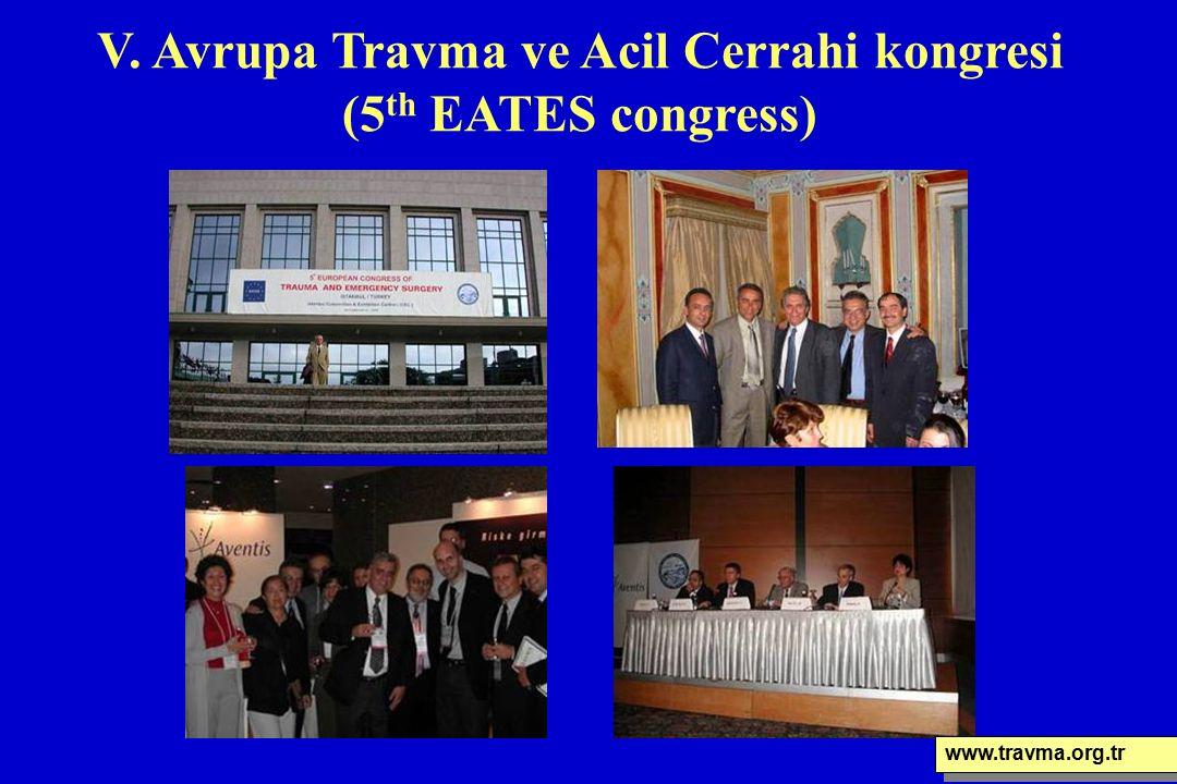 V. Avrupa Travma ve Acil Cerrahi kongresi (5 th EATES congress) www.travma.org.tr