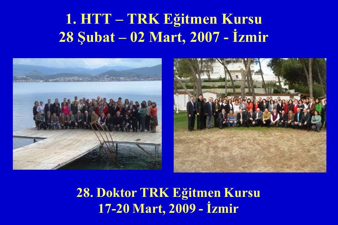 1. HTT – TRK Eğitmen Kursu 28 Şubat – 02 Mart, 2007 - İzmir 28. Doktor TRK Eğitmen Kursu 17-20 Mart, 2009 - İzmir