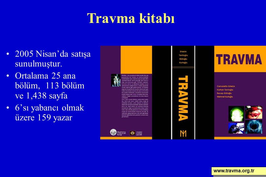 2005 Nisan'da satışa sunulmuştur. Ortalama 25 ana bölüm, 113 bölüm ve 1,438 sayfa 6'sı yabancı olmak üzere 159 yazar Travma kitabı www.travma.org.tr