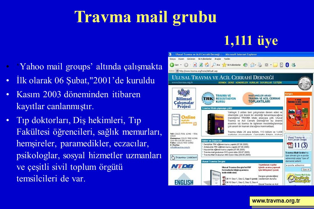 'Yahoo mail groups' altında çalışmakta İlk olarak 06 Şubat,