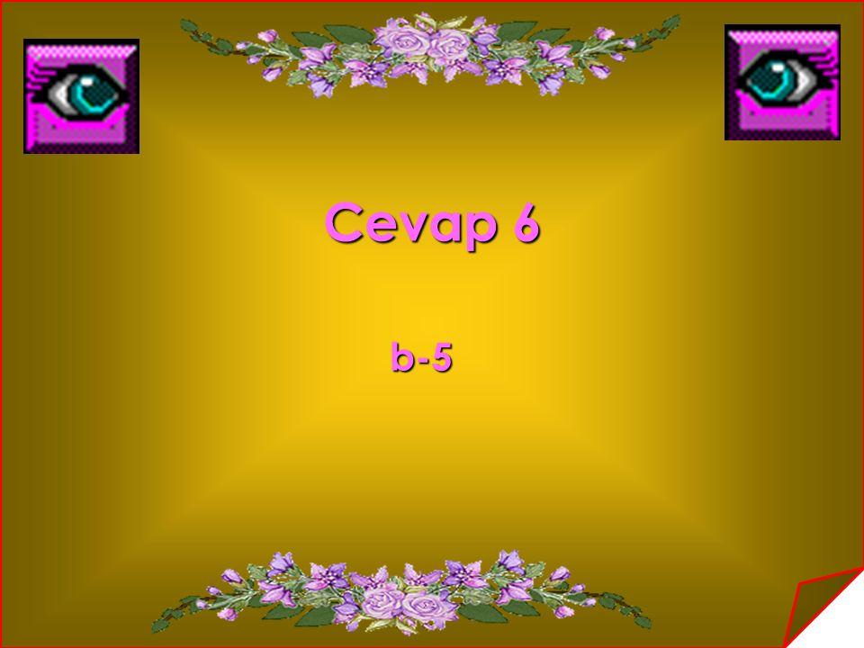 Cevap 6 b-5