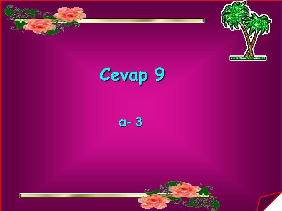 Cevap 9 a- 3 a- 3