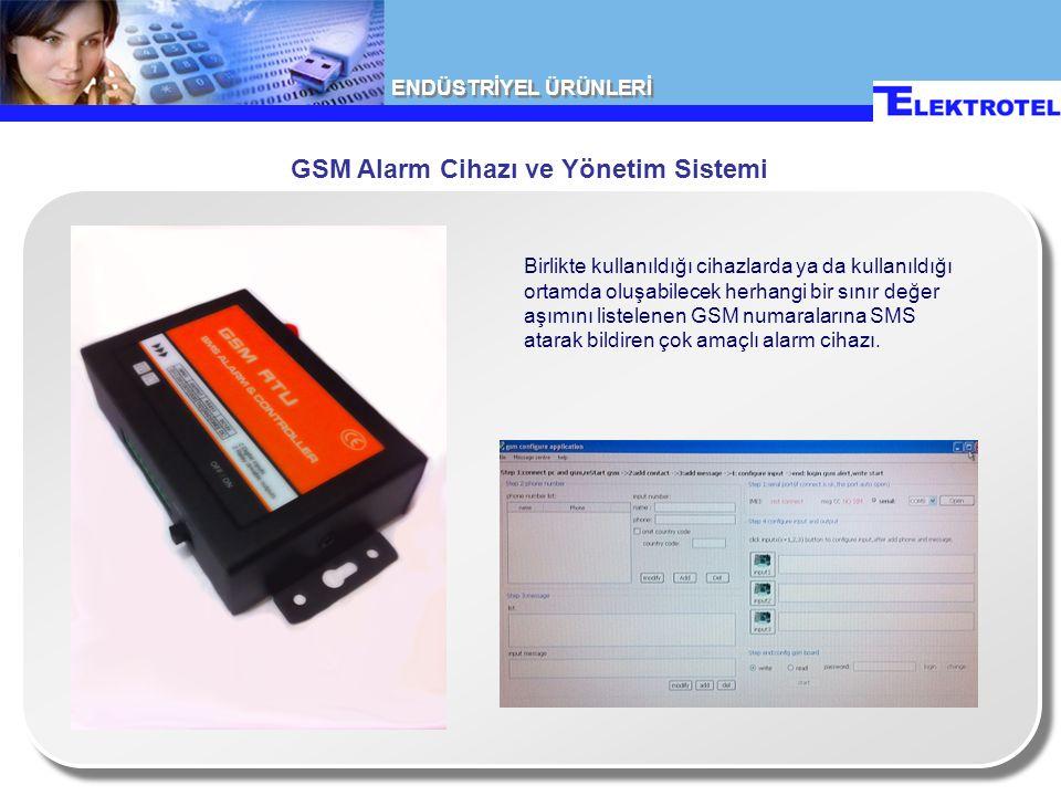 GSM Alarm Cihazı ve Yönetim Sistemi Birlikte kullanıldığı cihazlarda ya da kullanıldığı ortamda oluşabilecek herhangi bir sınır değer aşımını listelenen GSM numaralarına SMS atarak bildiren çok amaçlı alarm cihazı.