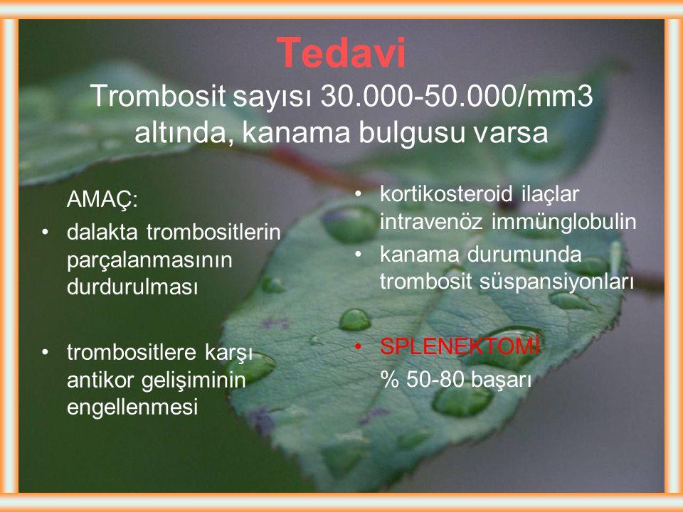 Belirti ve Bulgular  ITP'li çocuk sağlıklı, iyi görünümlü olup, ani başlayan peteşi ve ekimoz ile hastaneye başvururlar.  < trombosit sayısı10 000/m